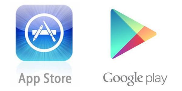 Links : App store Rechts : Google play